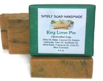 Key Lime Pie Soap,Key Lime Scent,Key Lime,Shea Butter Soap,Key Lime Soap,Lime Essential Oil,Sunflower Oil Soap