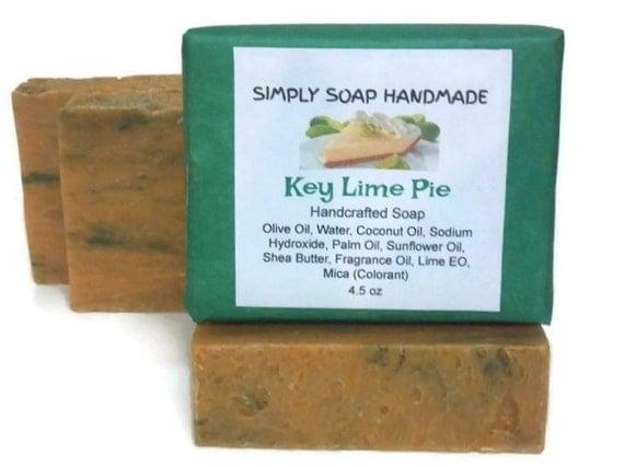 Key Lime Pie Soap,Key Lime Scent,Key Lime,Shea Butter Soap,Key Lime Soap,Lime Essential Oil,Sunflower Oil Soap