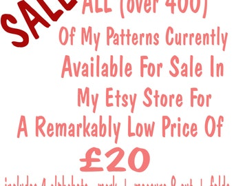 SALE all patterns from #1 to #456