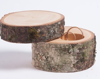 Ring box rustic, ring holder, ring bearer pillow, rustic wedding decoration, wood decor for rustic wedding