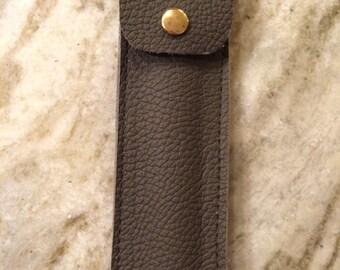 Handmade Leather Pencil/ Pen case.