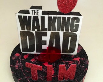 Personalized The Walking Dead 3D Party Centerpiece or Cake Topper!!!