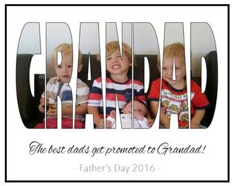 Father's Day Print- Poppy, grandad, dad