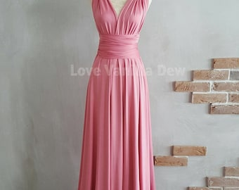 Bridesmaid Dress Infinity Dress Blossom Floor Length Maxi Wrap Convertible Dress Wedding Dress