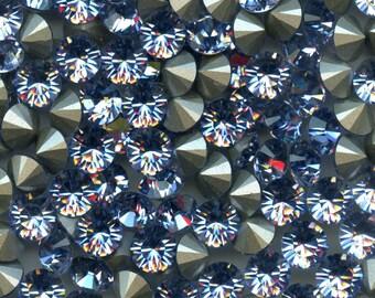 1028 SS39 PL***  6 Swarovski rhinestones point back SS39 (8,3mm) Provence lavender