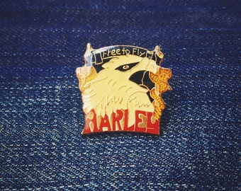 "Harley ""Free to Fly"" Eaglehead pin"