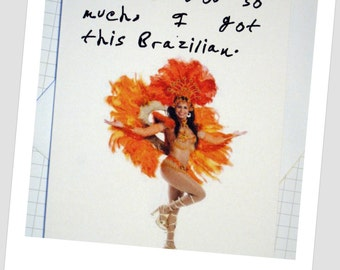 Card - 'I Like You So Much, I Got This Brazilian'.