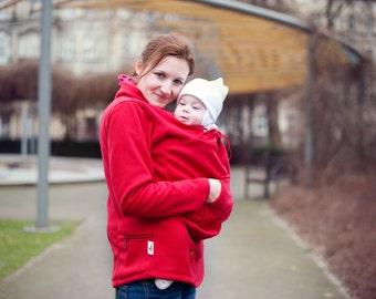 Babywearing double fleece, baby carrying fleece, mother and baby :)
