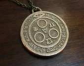 Silent Hill Halo of the Sun Seal of Metatron Stainless Steel 3D Printed Jewelry Pendant and Keychain