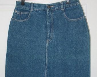 VIntage Womens Jean Skirt