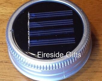 Mason Jar Solar Lid Light - Set of 6 - Color Changing LED - solar patio lights, solar light, outdoor solar lights, solar mason jar