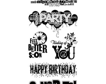 """Inkadinkado """"Everyday Expressions"""" - Clear stamps - Thanks"""