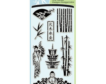 "Inkadinkado ""Asian Influences"" - Clear stamps"
