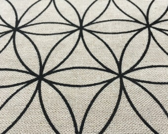 Crystal - Flower of Life - Grid - Crystal grid - Altar cloth - Decoration - Charging - Sacred geometry - Sacred space - Linen - Altar