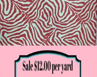 FABRIC SALE!!!  Pink Zebra Fabric - Animal Print Fabric - Fun Pillow Fabric - Shower Curtain