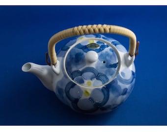 Card folded -Item 2 Blue teapot