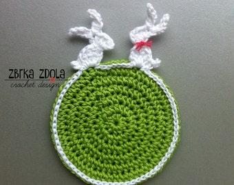 Easter coaster - Easter crochet pattern (Pattern No. 021) INSTANT DIGITAL DOWNLOAD