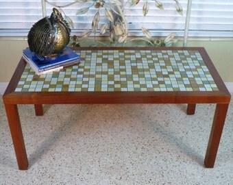 Gordon & Jane Martz For Marshall Studios Tile Top Coffee/Sofa Table Mid Century 1960s
