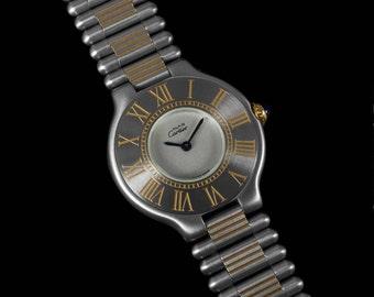 CartierMust De 21C Ladies Watch- Stainless Steel & 18K Gold