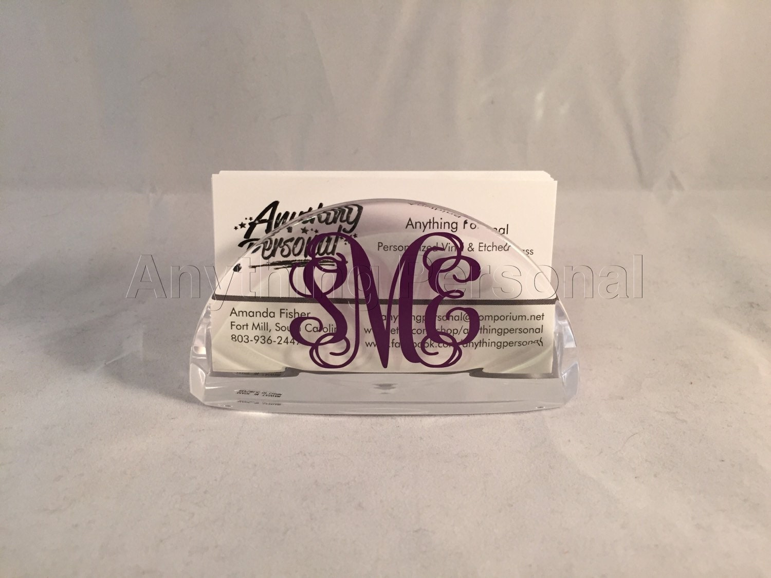 Personalized gift monogram gift business card holder for Personalized gift cards for businesses