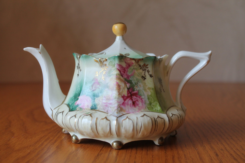 R S Prussia Teapot Antique Teapot Vintage 1900 1917 R S