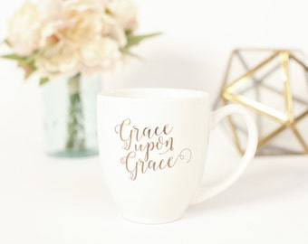 Gold Foil Grace Upon Grace Mug