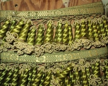 Antique 19th C Wooden Tassel Passementerie Trim Rare Yardage Sold by the Yard Ideal for Furnishings and Pillows Country Chateau