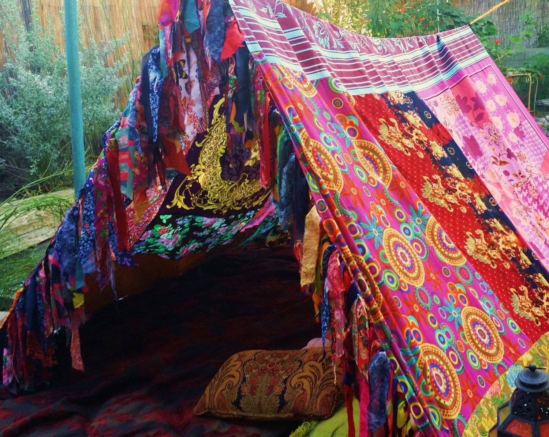 Boho Tent Teepee Bohemian Tapestry Hippiewild Silk Hippy