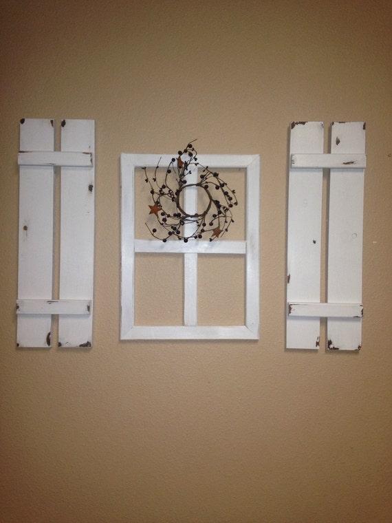Decorative Shutters Wall Decor : Set of cute decorative shutters for home decor counry