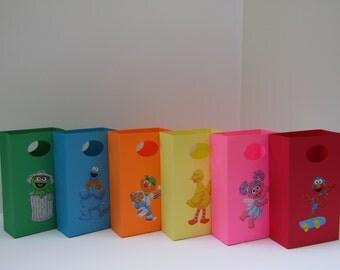 10 Sesame Street Large Party Favor Bag - Candy Bag - Treat Bag - Goodie Bag - Sesame Street Girl/Boy Birthday Bag - Sesame Street Gift Bag