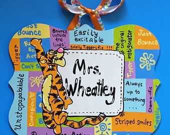 Tigger Teacher Sign