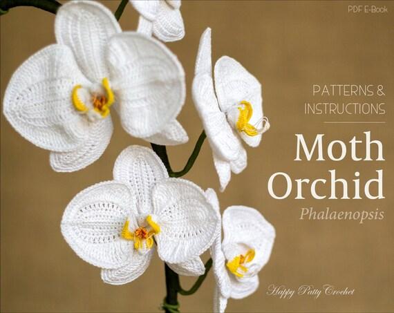 Free Crochet Pattern Orchidee : Geh?kelte Blumen Muster h?keln Orchidee von HappyPattyCrochet