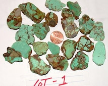 TURQUOISE ROUGH, turquoise nuggets, blue turquoise, green turquoise, loose turquoise, turquoise stabilized, 100 gram lot