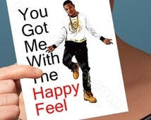 Funny Birthday Card | Fetty Wap Card | Humor Greeting Card 1738 Gifts For Her Hey Whats Up Hello  Birthday Card Friend Trap Queen Boyfriend