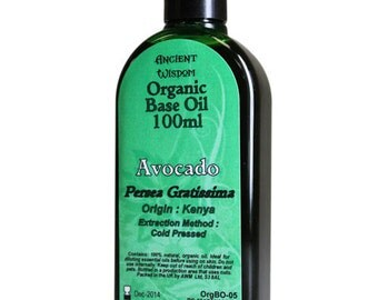 100ml Organic Base Oil - 100% Pure - AVOCADO Base Oil