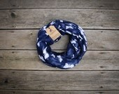 Navy Butterfly Infinity Scarf Navy, Soft, Lightweight, Fall Scarf, Winter Scarf, Year-round Scarf ThePeddlingPanda The Peddling Panda