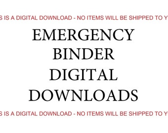 3-day Emergency Food Supply List, Digital Download