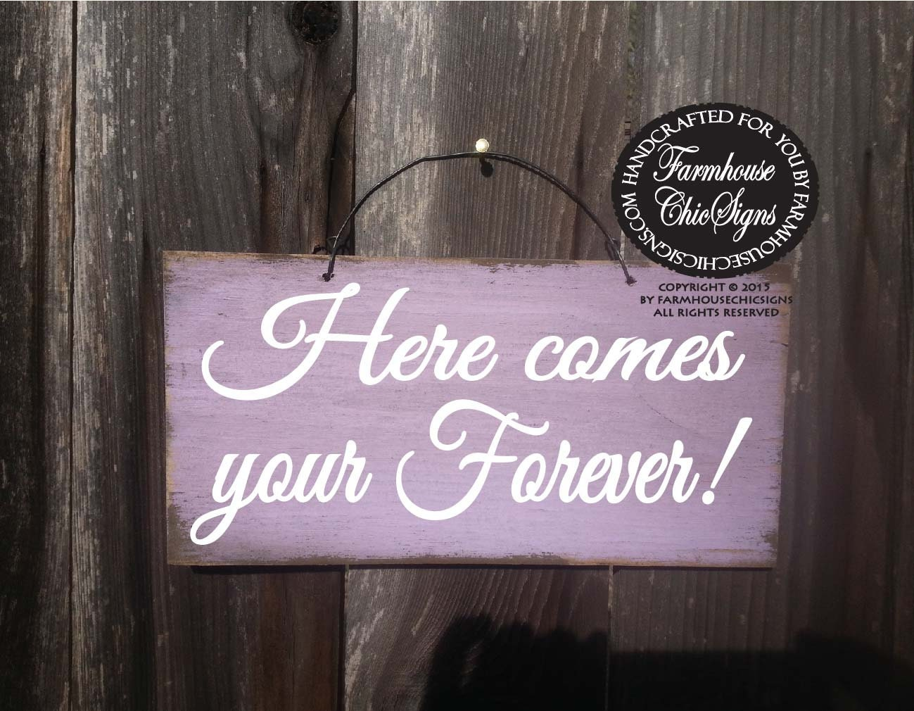 Wedding sign here comes your forever sign wedding decoration wedding sign here comes your forever sign wedding decoration rustic wedding decor rustic wedding ring bearer sign 224 junglespirit Gallery