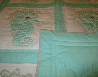 Mint Seahorse Quilt