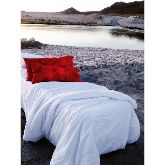 Items Similar To White And Coral Bohemian Bedding Twin Xl
