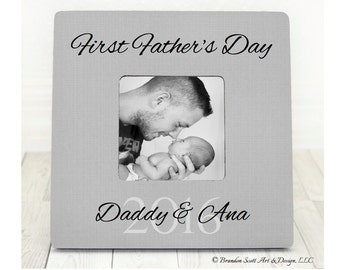 first fathers day gift picture frame personalized gift for new dad daddy happy first fathers day frame for daddy to be