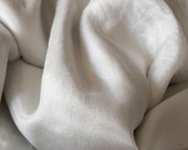 Pale Grey silk table runner, sheer silk, silk bridal sash, silk bouquet ribbon, pale grey silk, bridal bouquet, wedding styling