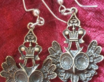 One of a kind owl earrings