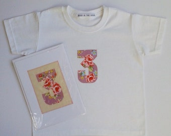 3rd Birthday T-Shirt and Card