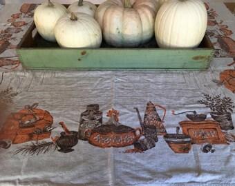 Vintage Linen Fall Tablecloth