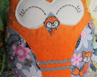 Plush owl pillow