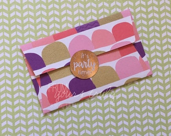 Gold, Rose Gold, Silver, Teal, Mint, Pink Foiled Round Stickers: It's a Party! (pk 20)