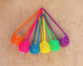 Crochet Wine Glass Holder, Crochet Glass Holder, Wine Glass Holder Necklace, Wine Necklace, Wine Holder, Wine Glass Necklace, Glass Holder