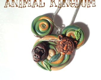 Animal Kingdom Zoo Disneyworld Inspired Mickey Lollipop Necklace Brooch
