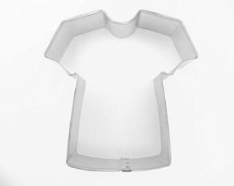 """T-Shirt Cookie Cutter 3.5"""" Tee Shirt Tshirt Tin Plated Steel Fondant Stuffer"""